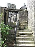 SD9828 : Heptonstall - steps off Church Lane by Dave Bevis
