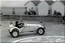 TM3034 : Autotest car at the Spa Pavilion turn round, about 1965 by Frank Goldsmith