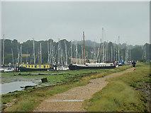 SU4808 : Houseboats on the River Hamble by Sara Sawers