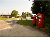 SZ1098 : Hurn: postbox №s BH23 68 and BH23 517, Enterprise Way by Chris Downer