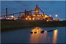 NZ5625 : Redcar blast furnace at night by Stephen McCulloch