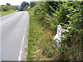 TM4479 : A145 London Roadand the Brampton Milepost by Adrian Cable
