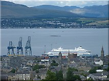NS2776 : Greenock and the Clyde from Overton by Thomas Nugent
