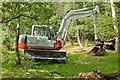 SU2606 : Warwickslade Cutting: hydraulic excavator by Peter Facey