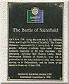 Photo of United Irishmen, Battle of Saintfield, Granville Anson Chetwynd-Stapylton, and Thomas Leslie Birch black plaque