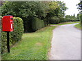 TM3266 : Bruisyard Road & College Farm Postbox by Geographer