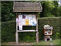 TM3266 : Bruisyard Village Notice Board by Adrian Cable