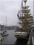 J3474 : Tall ship moored at Queen's Quay, Belfast by Kenneth  Allen