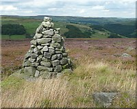 SD9922 : Cairn, Turley Holes Edge, Mytholmroyd by Humphrey Bolton