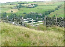 SD9922 : Stile onto the moor near Higher House, Mytholmroyd by Humphrey Bolton