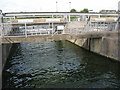 TL3907 : Richard White sluices, Dobb's Weir Road by Stephen Craven