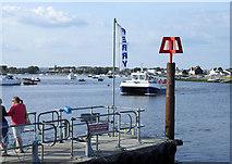 SZ1891 : Ferry arriving, Mudeford Spit by Pierre Terre