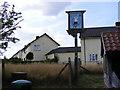 TM4160 : Friston Village Sign by Geographer