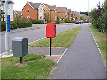 TM3763 : Brook Farm Road & Heron Road Postbox by Adrian Cable