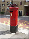 TQ3480 : Queen Elizabeth II Pillar Box in Wapping Lane, London E1 by Christine Matthews