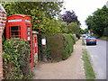 TM4770 : St.James Street Dunwich,Telephone Box & St.James Street George VI Postbox by Geographer