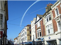 SY6778 : Red Arrows Over St Thomas Street by Ivan Hall