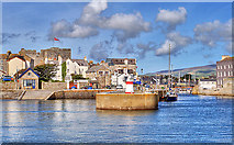 SC2667 : Castletown Harbour Entrance by Andy Stephenson