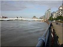 TQ2575 : Wandsworth, riverside by Mike Faherty