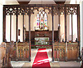 TM3197 : The church of SS Margaret and Remigius - rood screen by Evelyn Simak