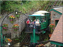 SS7249 : Cliff Railway terminus, Lynmouth by Ruth Sharville