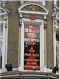TQ2784 : Sign for The Sir Richard Steele, Haverstock Hill, NW3 by Mike Quinn