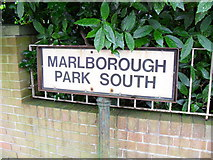 J3271 : Sign, Marlborough Park South, Belfast by Dean Molyneaux