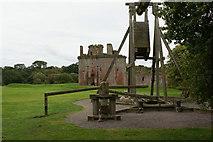 NY0265 : A trebuchet's view of Caerlaverock Castle by Ian Greig