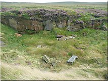 SD9920 : Disused quarry next to Blackstone Edge Road by Humphrey Bolton