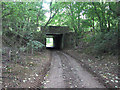 SK8732 : Harlaxton ironstone railway: former trackbed and bridge under the A607 by John Sutton