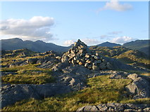 NY2201 : Cairn on Border End by Michael Graham