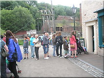 SJ6903 : Long queue at Blists Hill Open Air Museum (2) by Basher Eyre