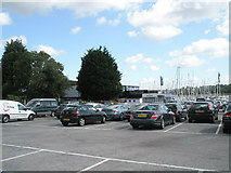 SU4808 : Car park for the Water's Edge Restaurant at Hamble by Basher Eyre