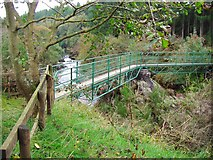 NX5987 : Footbridge over the Polmaddy Burn by Ann Cook