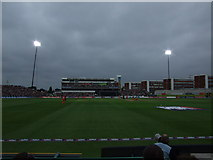 SJ8195 : Floodlights at Old Trafford 30.8.09 - the 20 20 International by Richard Hoare
