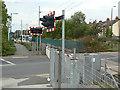 SK5445 : Carey Road level crossing by Alan Murray-Rust
