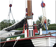 TG3802 : The trading wherry 'Maud'  (detail) by Evelyn Simak