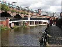SJ8297 : Cornbrook, footbridge by Mike Faherty