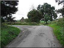SK2652 : Callow - Lane Junction by Alan Heardman