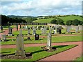 NS3308 : Kirkmichael Cemetery by Mary and Angus Hogg