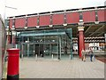 SJ8398 : Entrance to Salford Central Station by Gerald England
