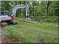 SU2705 : Warwickslade Cutting: laying the railway by Peter Facey