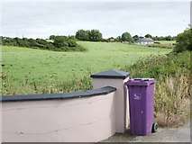 T1538 : Dustbin at Ballynahask, a study in lilac and green by Simon Mortimer