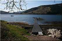 NM6356 : Floating Jetty at Rahoy by Peter Bond