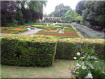 TQ2479 : Flower gardens in Holland Park by Peter S
