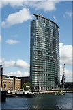 TQ3780 : Marriott Hotel, West India Quay by Peter Trimming