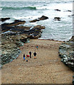 SW9379 : Gravel strand north of Pentireglaze (3) by Andy F