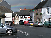 SX7087 : The Square and Southcombe Street, Chagford by Rob Purvis