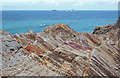 SW8573 : Rock strata near Fox Cove (1) by Andy F