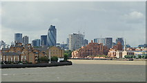 TQ3680 : River Thames From Canary Wharf by Peter Trimming